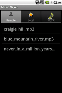 Android Music Player - screenshot thumbnail