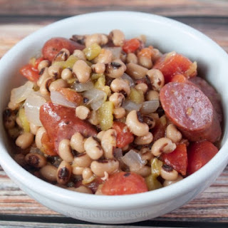 New Year's Black Eyed Peas with Sausage