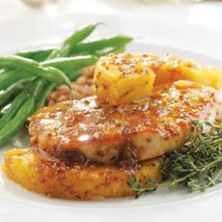 Thyme, Pork Chop & Pineapple Skillet Supper.