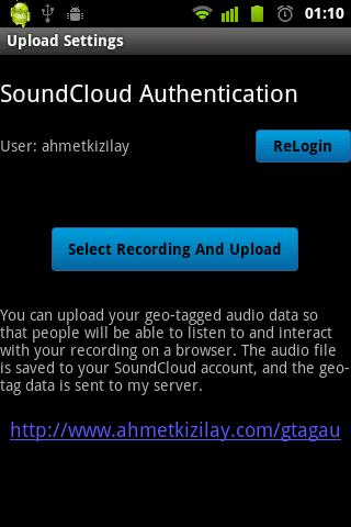 Geo-Tagged Audio- screenshot