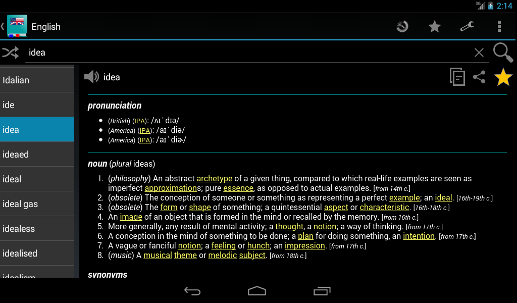 English Dictionary - Offline - screenshot