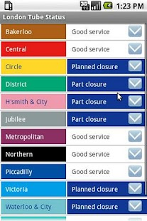 London Tube Status - screenshot thumbnail