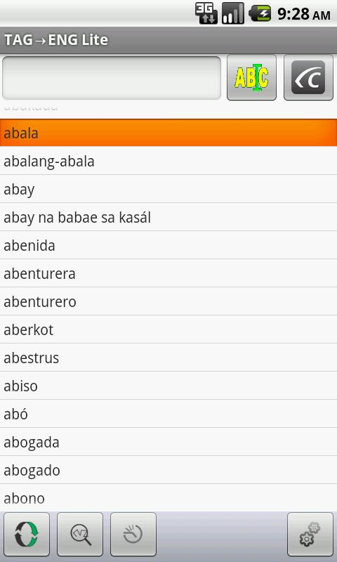 Eng-Tagalog Translator Lite (Android) reviews at Android