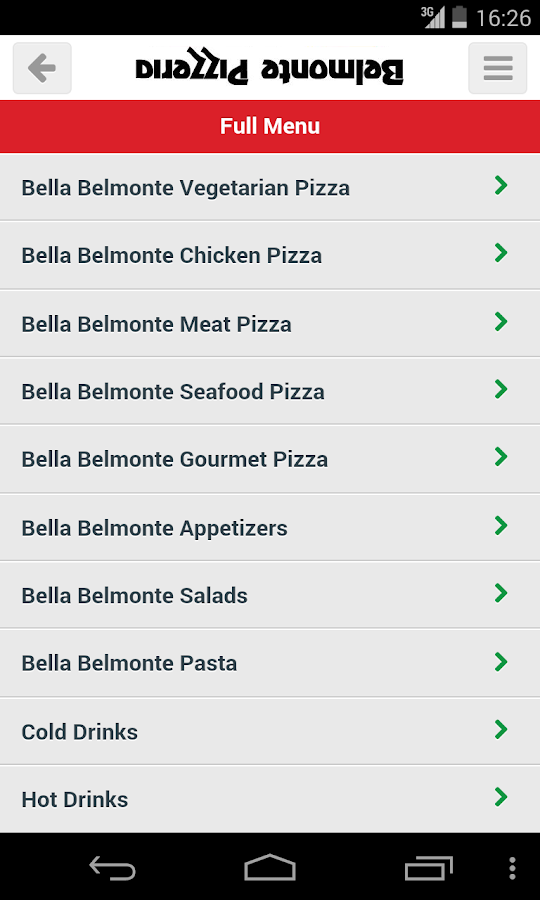 Belmonte Pizzeria- screenshot