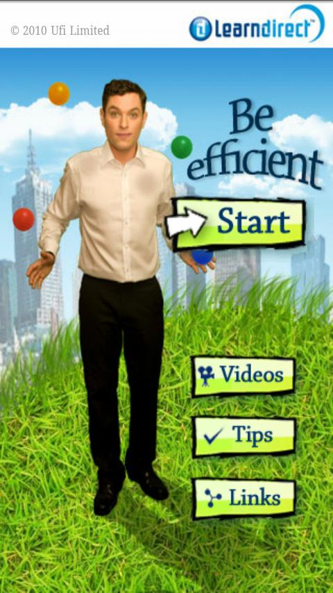 Be efficient - screenshot