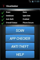 Screenshot of Virus Seeker Mobile Security