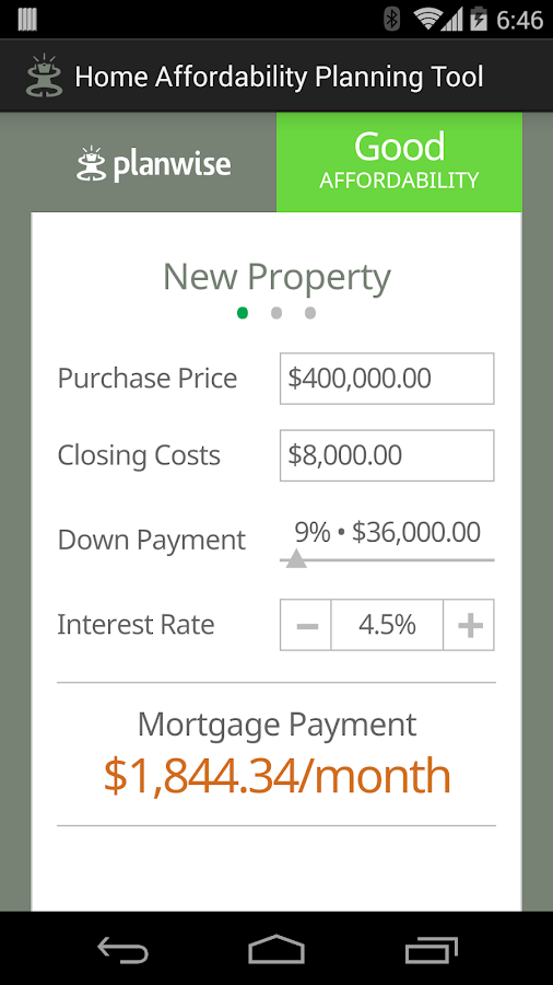Home Affordability Calculator - screenshot