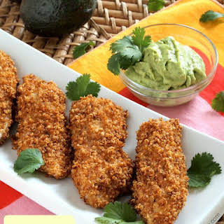 Spicy Quinoa-Crusted Chicken Fingers.