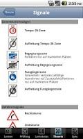 Screenshot of theoApp Theorieprüfung Schweiz