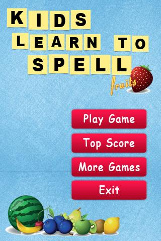 Kids Learn to Spell Fruits