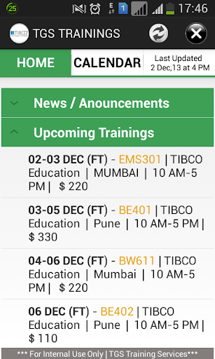 TIBCO TGS Trainings