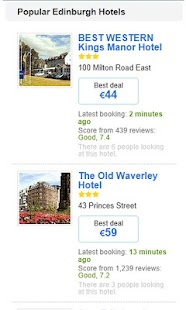 Hotels in Edinburgh - screenshot thumbnail