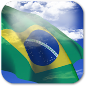 3D Brazil Flag Live Wallpaper+