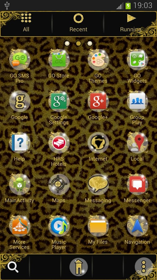 GO Launcher EX Theme Leopard - screenshot