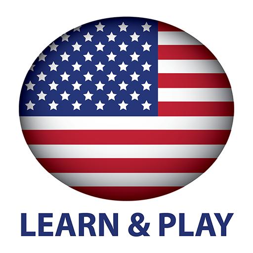 遊玩和學習。美國英語(美國人)free LOGO-APP點子