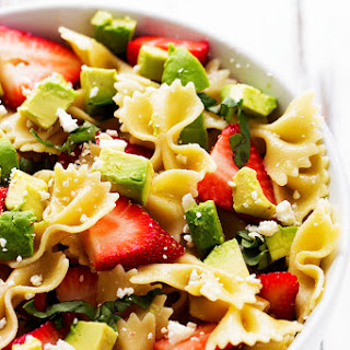 Strawberry Avocado Pasta Salad