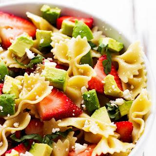 Strawberry Avocado Pasta Salad.