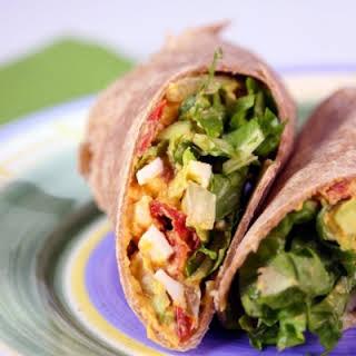 Egg & Avocado Salad Wrap.