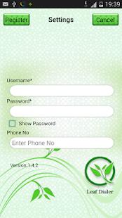 Leaf Dialer - screenshot thumbnail