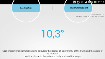 Screenshot of Scoliometer