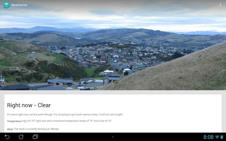 Screenshots for Weatherize