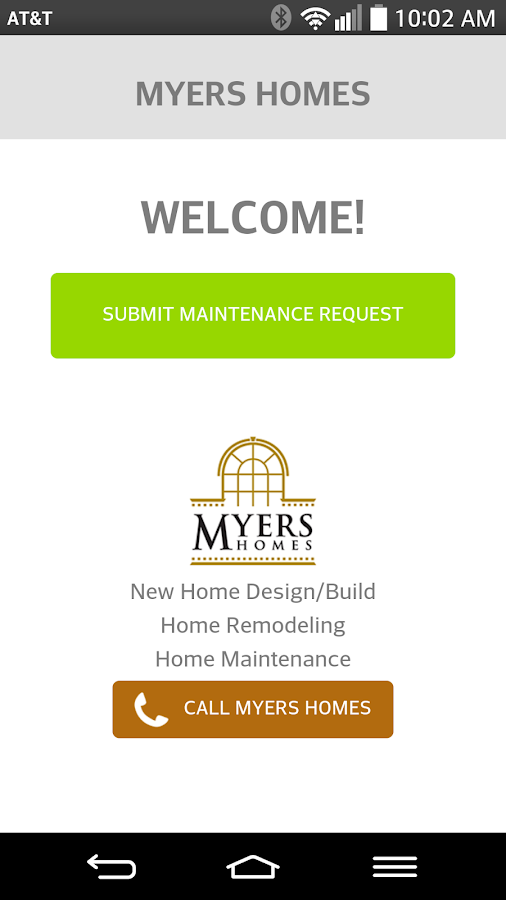 Myers Homes Service Request- screenshot