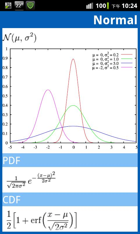 Statistical Distribution- screenshot