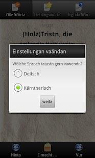 Kärnten Wörterbuch- screenshot thumbnail
