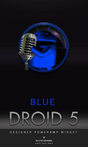 Poweramp Widget Blue Droid 5