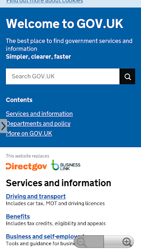 GOV.UK Browser
