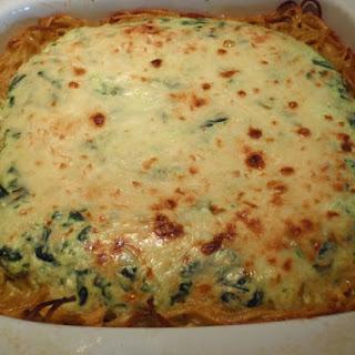 Cheesy Spinach Pasta Pie