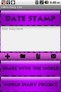 Purple Zebra Secret Diary WDP - screenshot thumbnail