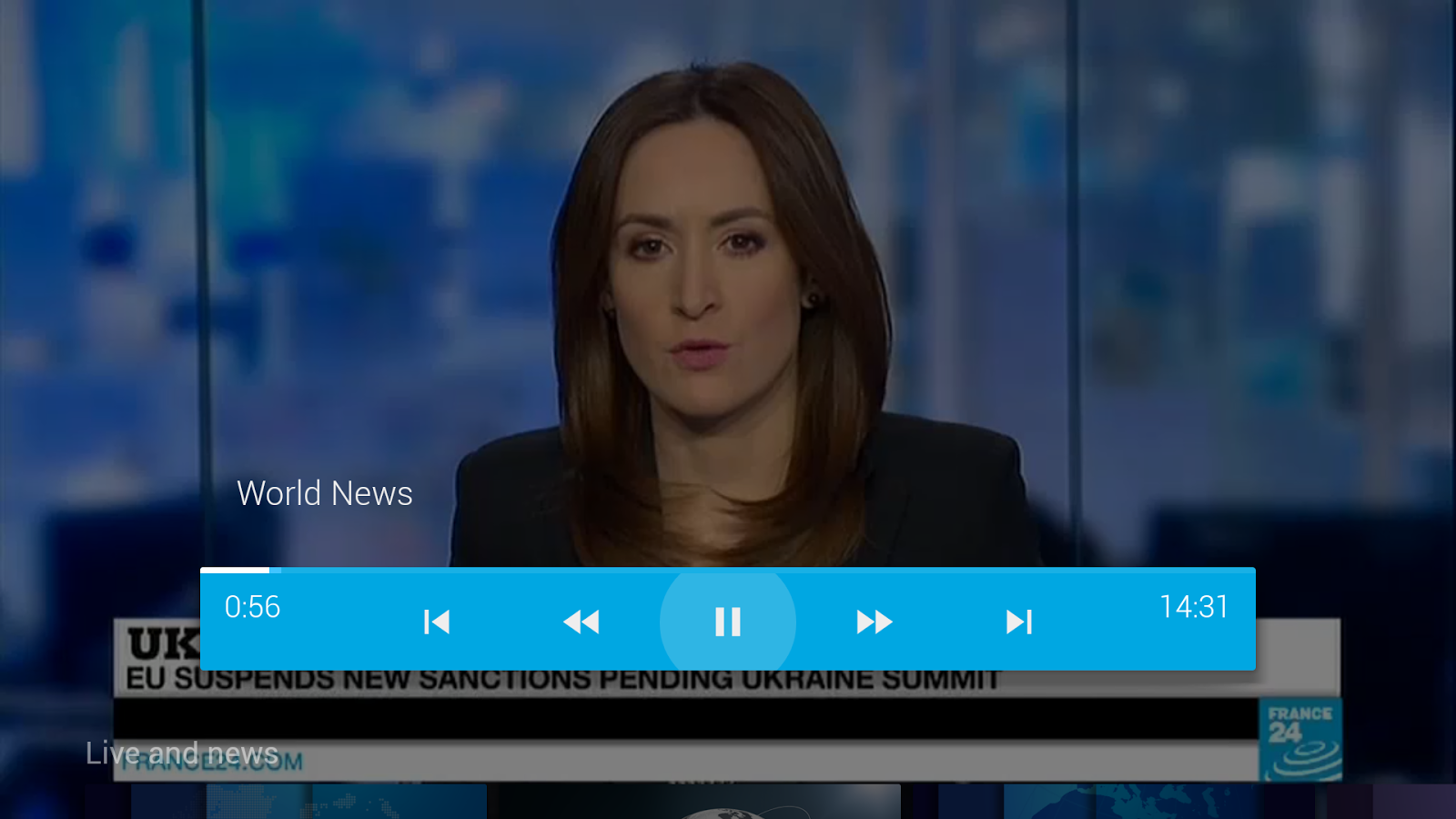 FRANCE 24 - Android TV- screenshot