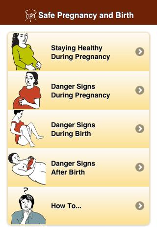 Safe Pregnancy and Birth - screenshot