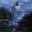 Jesus Waterfall Live Wallpaper icon