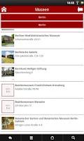 Screenshot of Museen und Ausstellungen