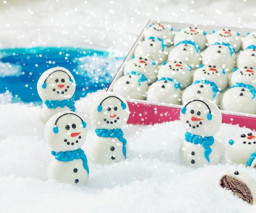クリスマスの雪だるまの壁紙
