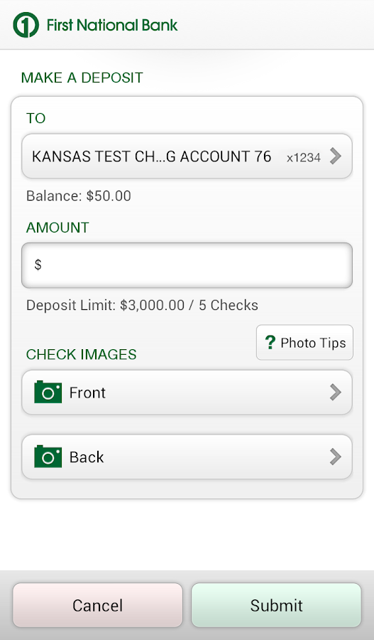 First National Bank of Omaha - screenshot