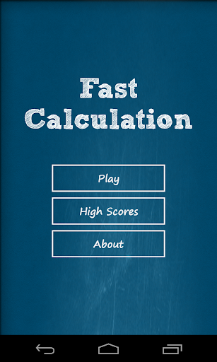 Fast Calculation