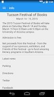 Screenshot of Tucson Festival of Books