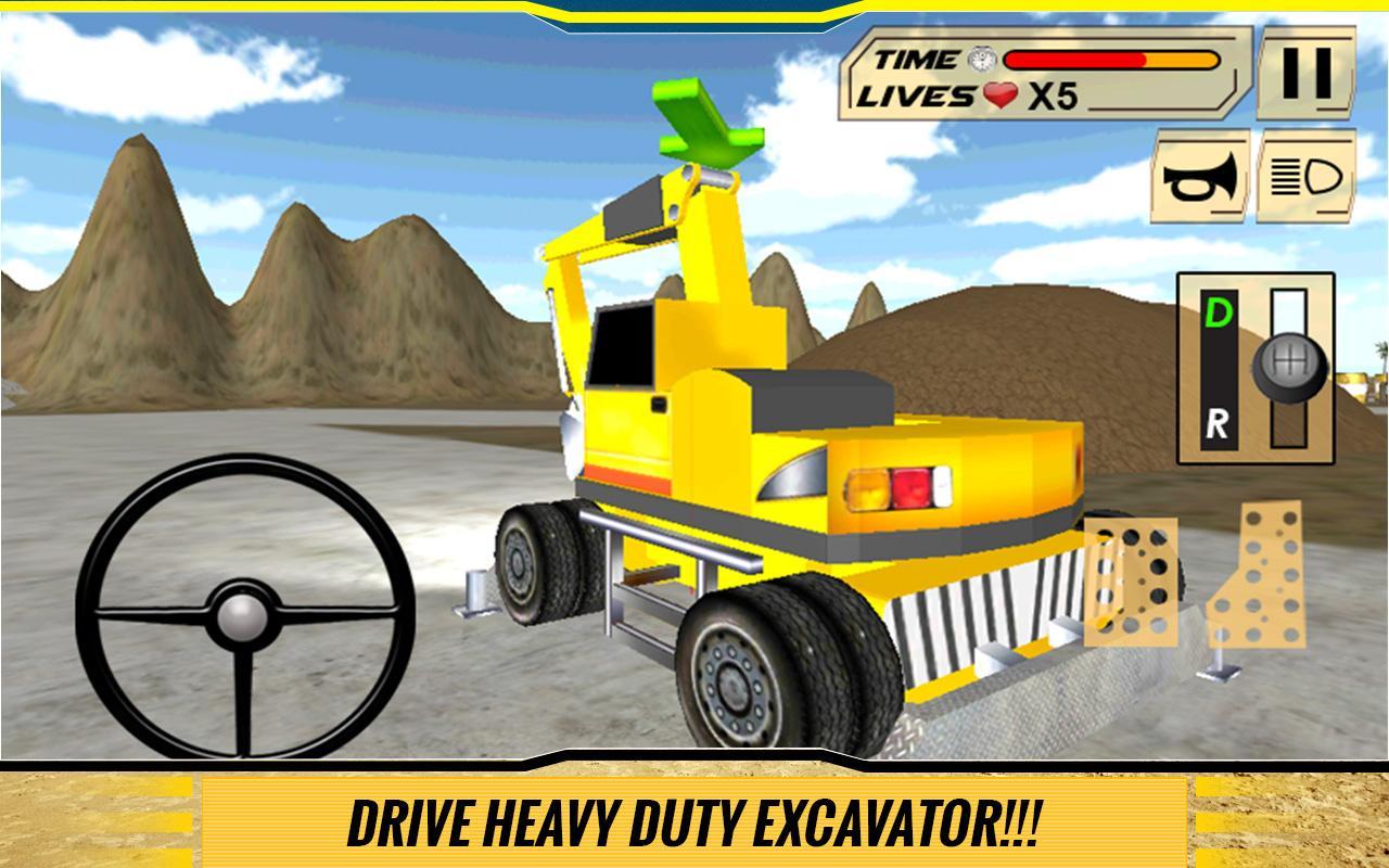 Sand-Excavator-Dump-Truck-Sim 22