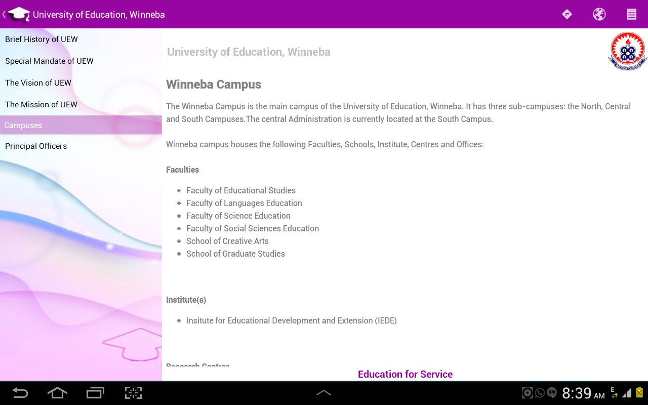 Universities of Ghana- screenshot