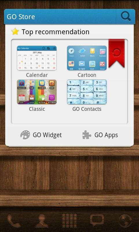 Wood Theme GO Launcher EX - screenshot