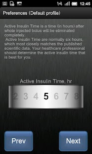 Insulin Bolus Calculator - screenshot thumbnail