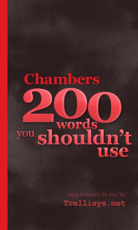 Chambers 200 Words–Don't Use - screenshot
