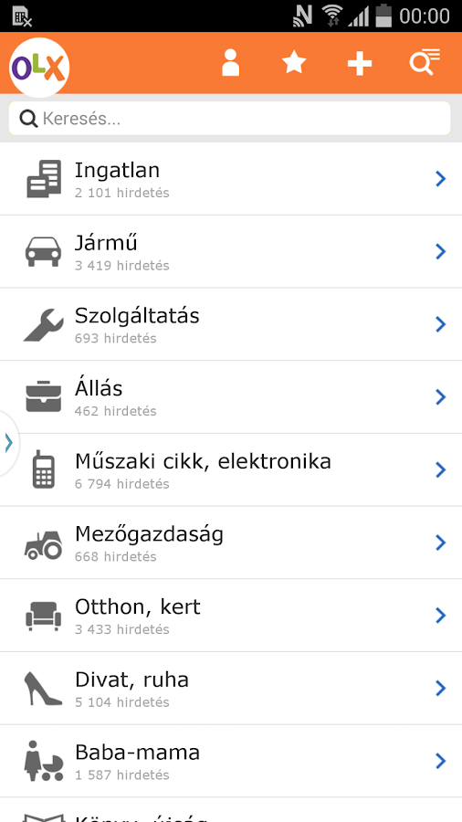 OLX.hu - screenshot