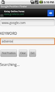 Google Position Finder - screenshot thumbnail