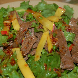 Flank Steak and Mango Salad.