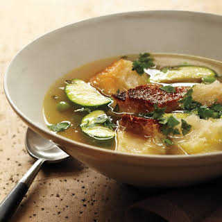 Bread Soup with Spring Vegetables.