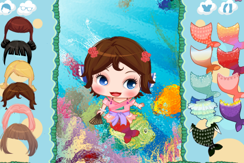 Cute Mermaid Princess Dress up